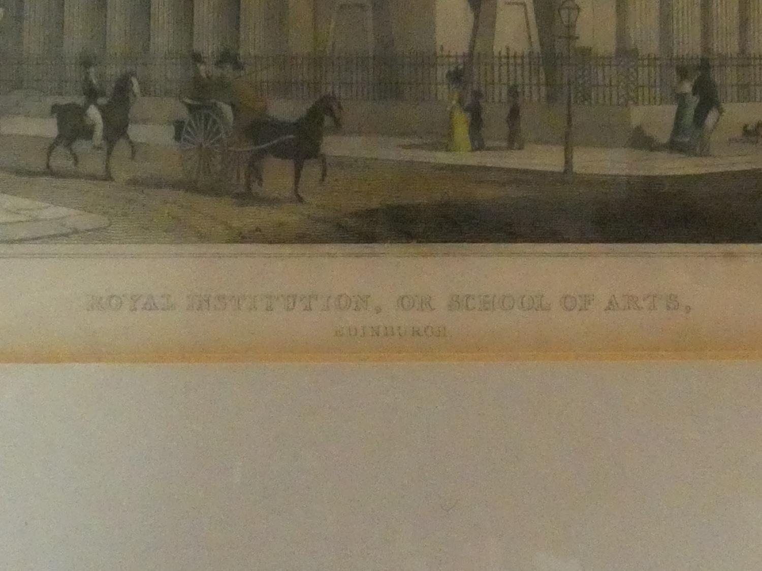 Seven framed and glazed antique hand coloured engravings, four of British places of interest and - Image 7 of 21