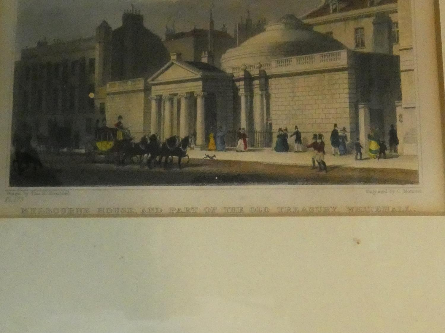 Seven framed and glazed antique hand coloured engravings, four of British places of interest and - Image 15 of 21
