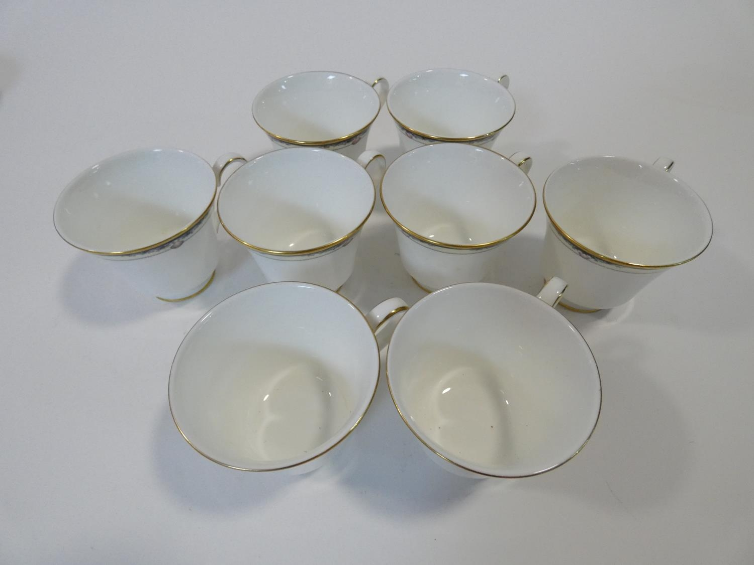 A Royal Doulton Rhodes design tea and coffee set to include cups, saucers and milk jugs. H.17cm - Image 21 of 34