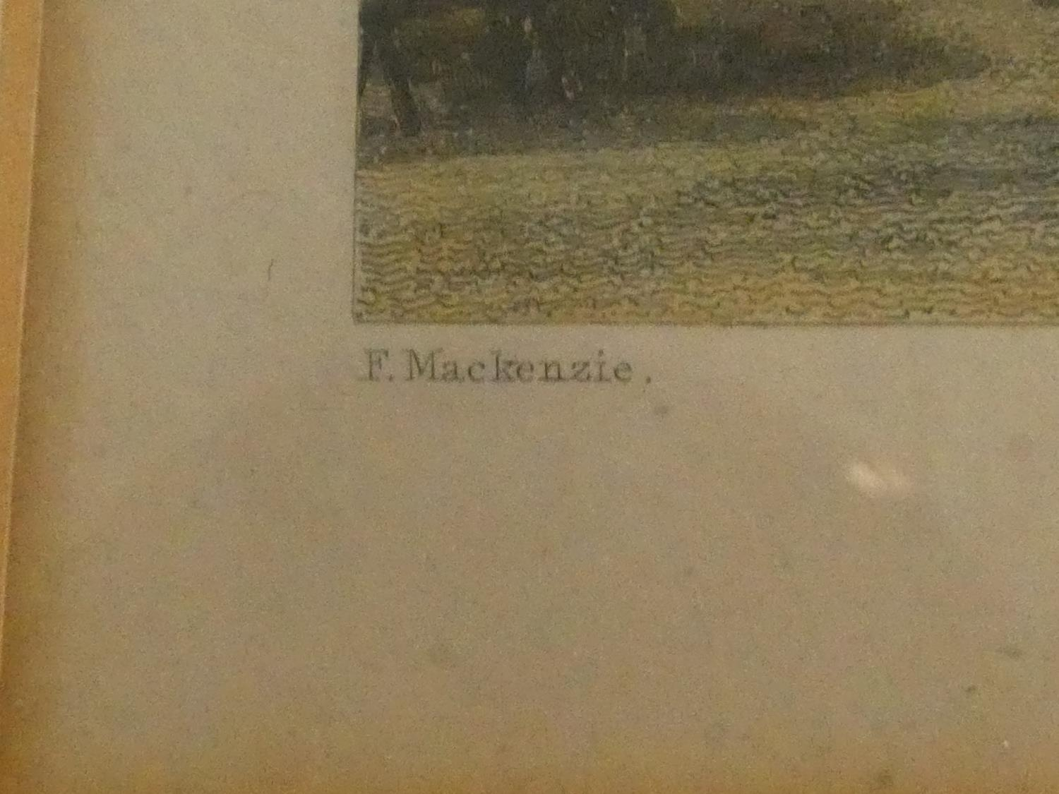 Seven framed and glazed antique hand coloured engravings, four of British places of interest and - Image 20 of 21