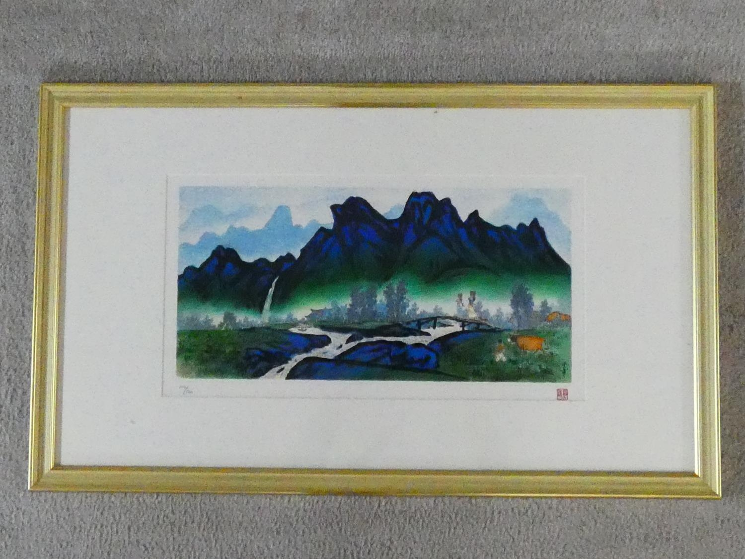 A framed and glazed limited edition signed print by Korean Artist (Kim Ki Chang 1914 - 2001), titled - Image 2 of 5