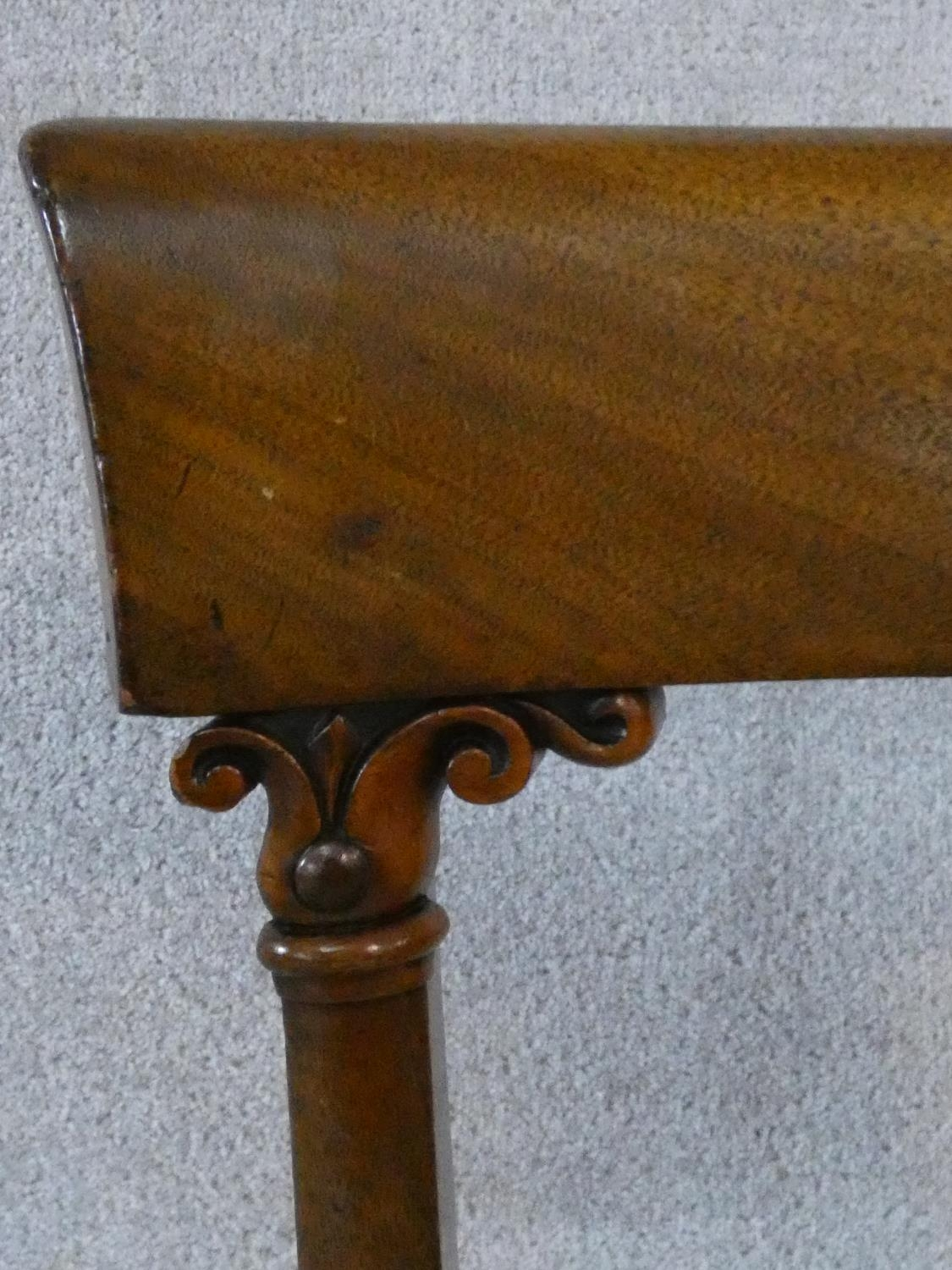 A set of eight William IV mahogany dining chairs with acanthus carving to the backs raised on - Image 10 of 10