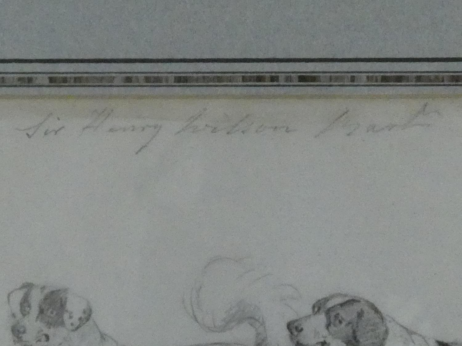Two 19th century framed and glazed pencil studies, figures in a stable yard and Sir Henry Wilson's - Image 4 of 4