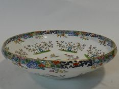An antique Minton Chinese bird & flower hand painted design bone china bowl. Makers Stamp to the