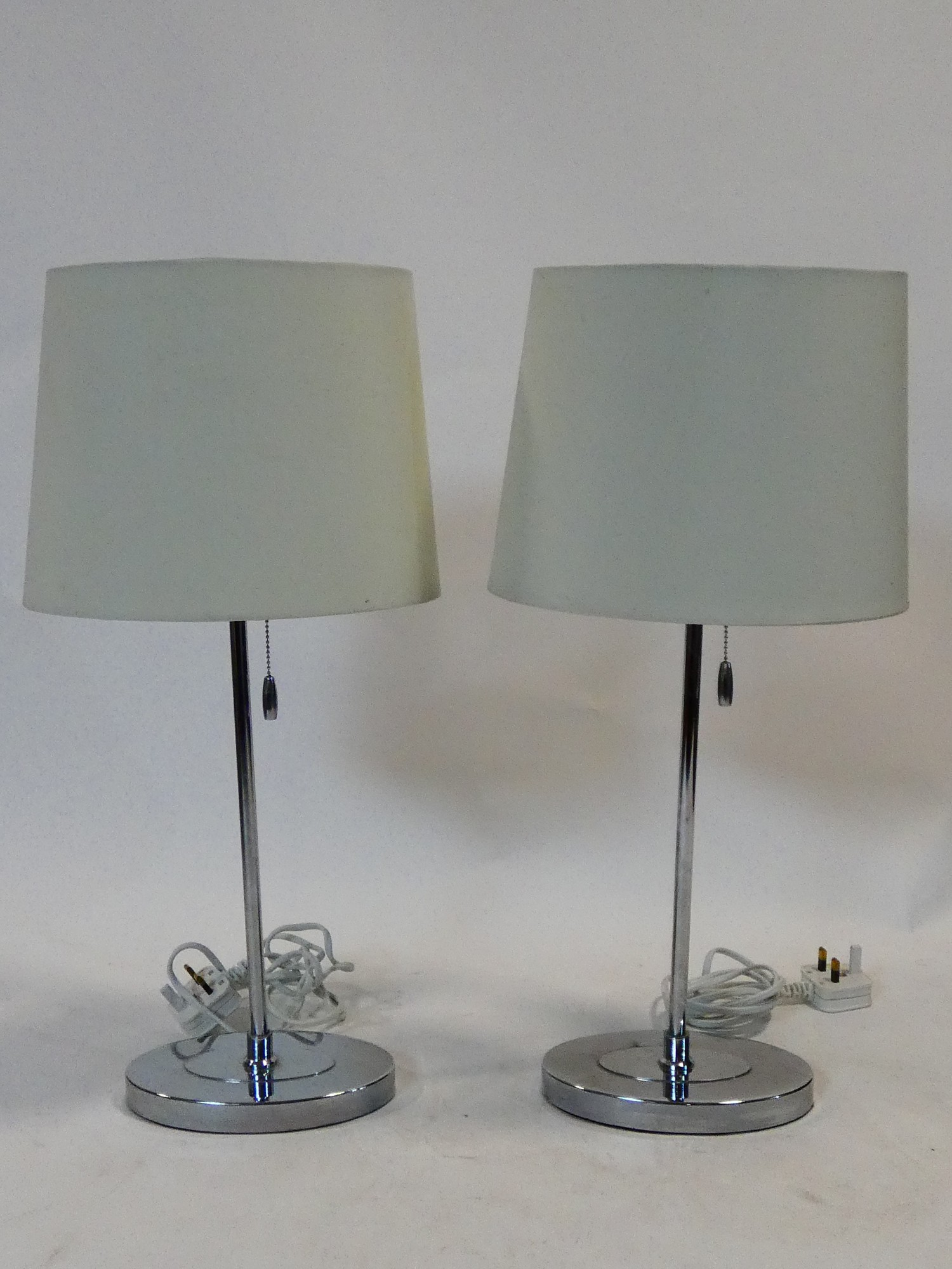 A pair of contemporary table lamps and their shades and a similar pair. H.59cm - Image 8 of 12