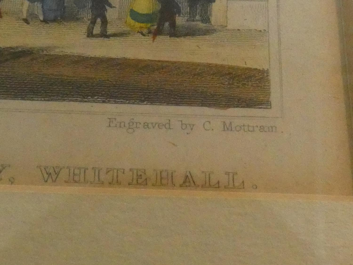 Seven framed and glazed antique hand coloured engravings, four of British places of interest and - Image 17 of 21