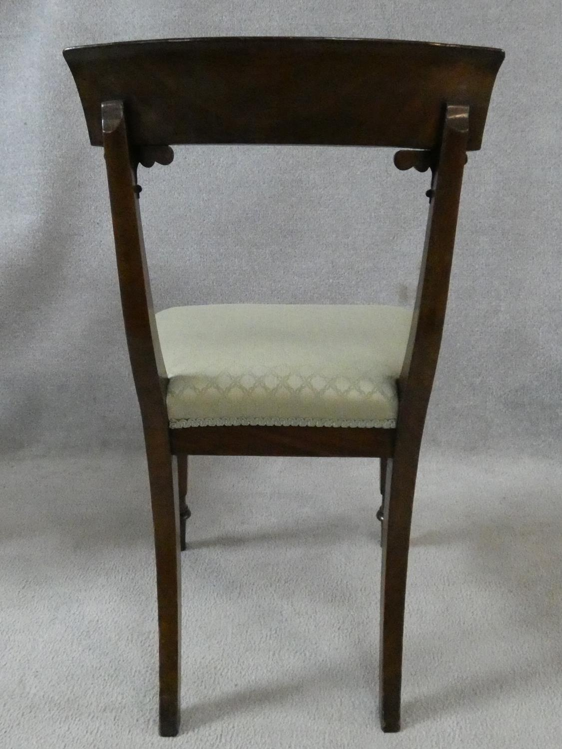 A set of eight William IV mahogany dining chairs with acanthus carving to the backs raised on - Image 8 of 10