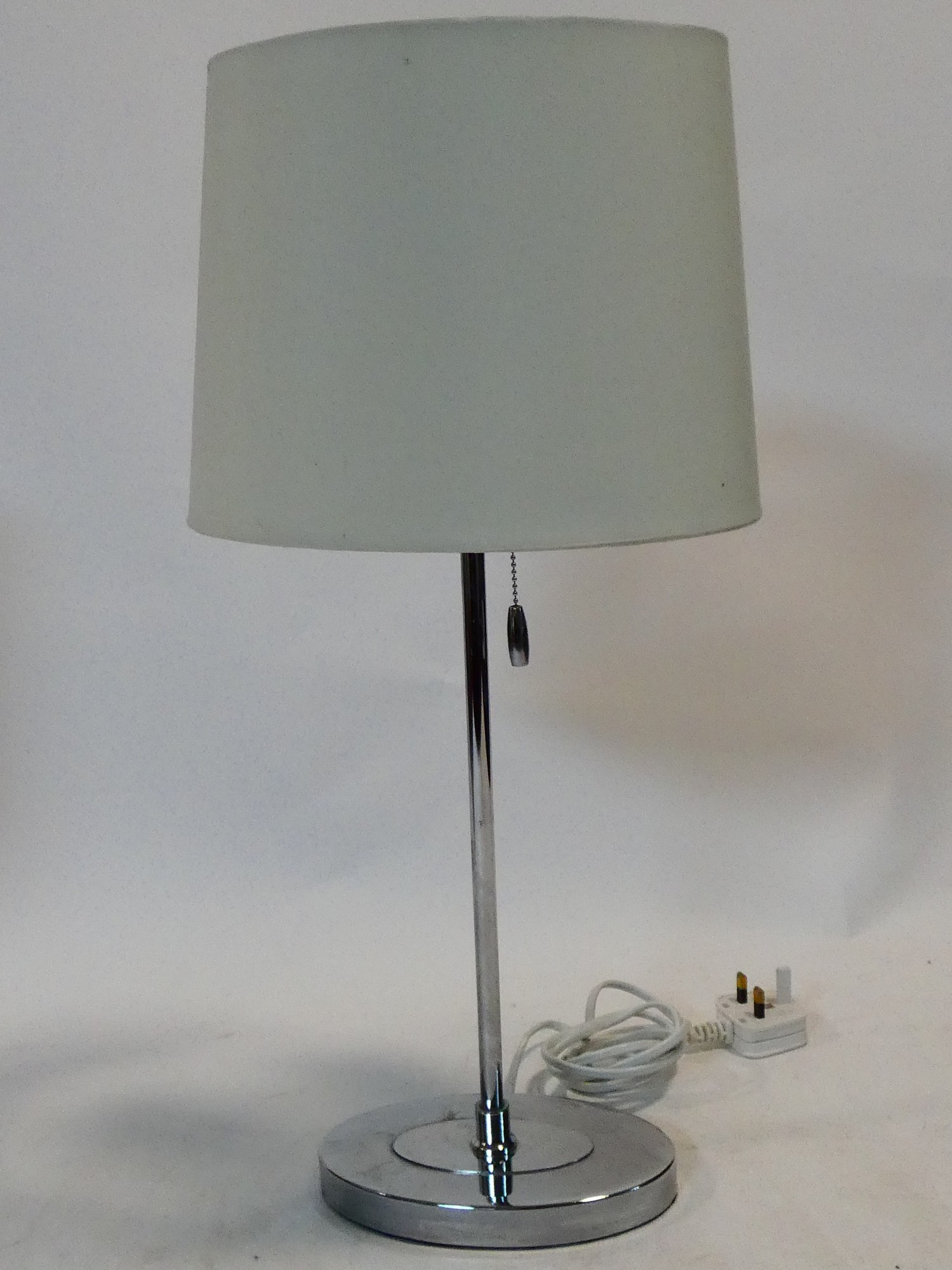 A pair of contemporary table lamps and their shades and a similar pair. H.59cm - Image 9 of 12