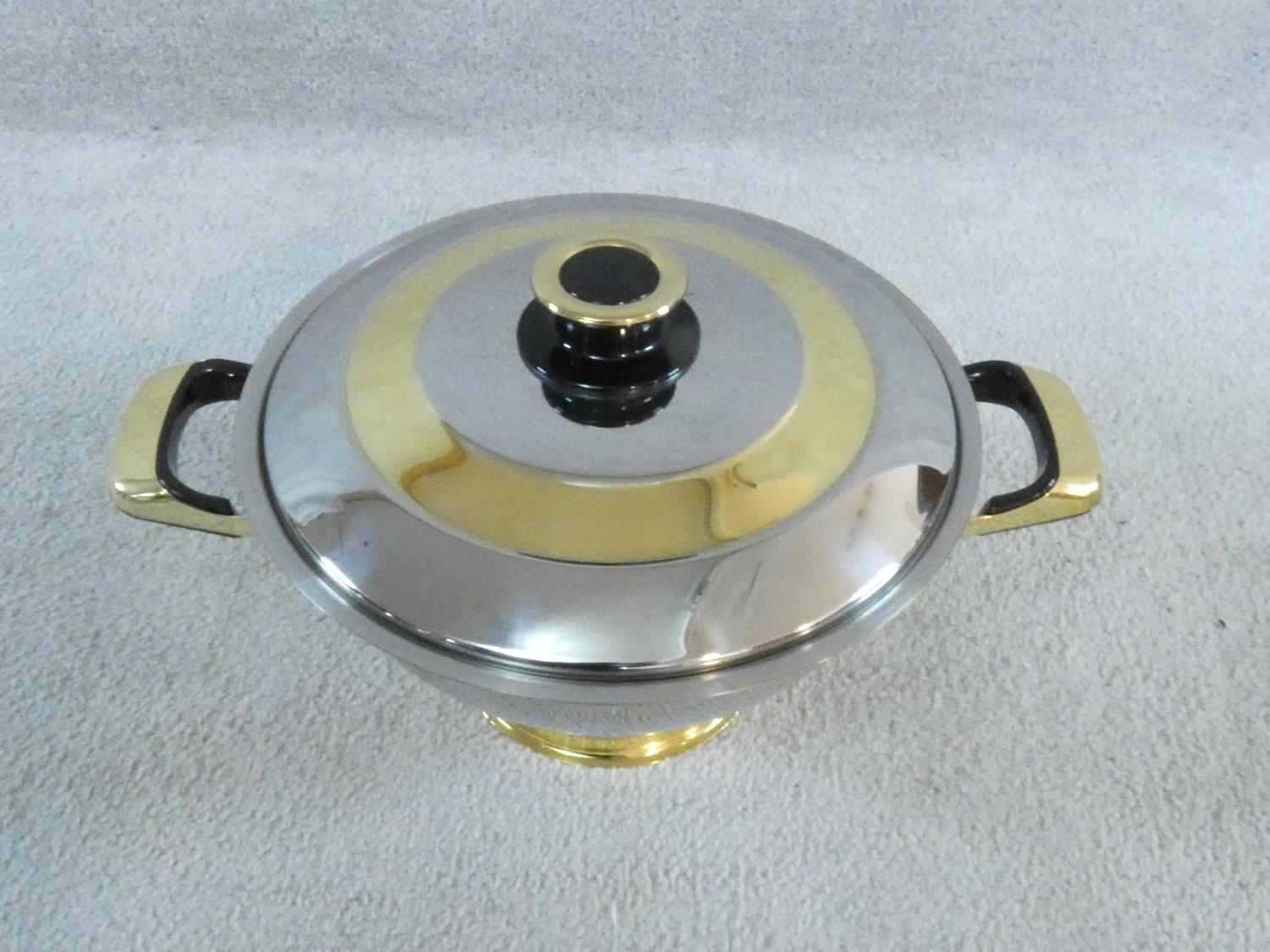 A set of boxed stainless steel as new Cameo Royale pans and cookware with 24k gold plated - Image 9 of 22