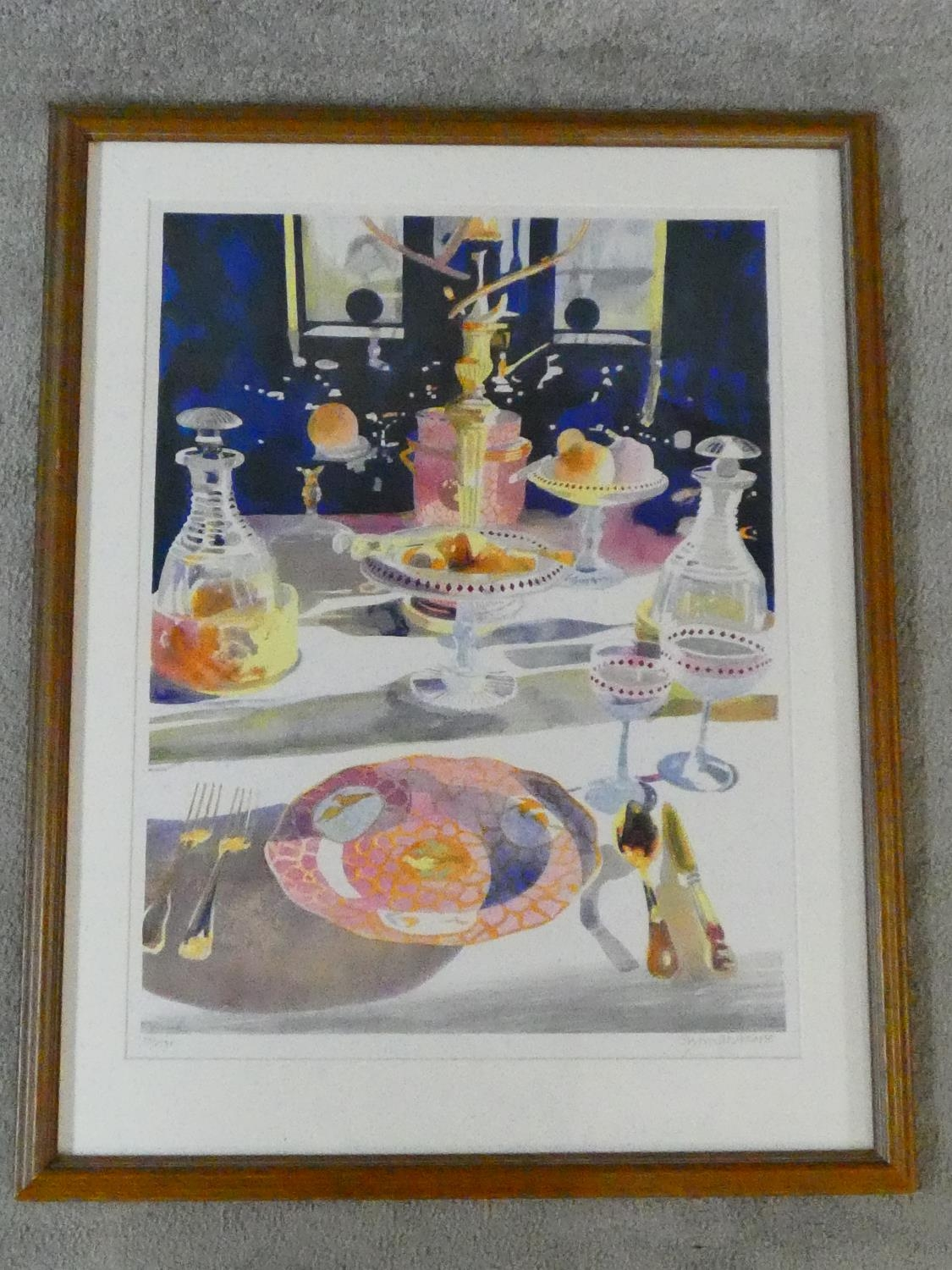 A framed and glazed signed coloured lithograph by British artist and illustrator Glynn Boyd - Image 2 of 6
