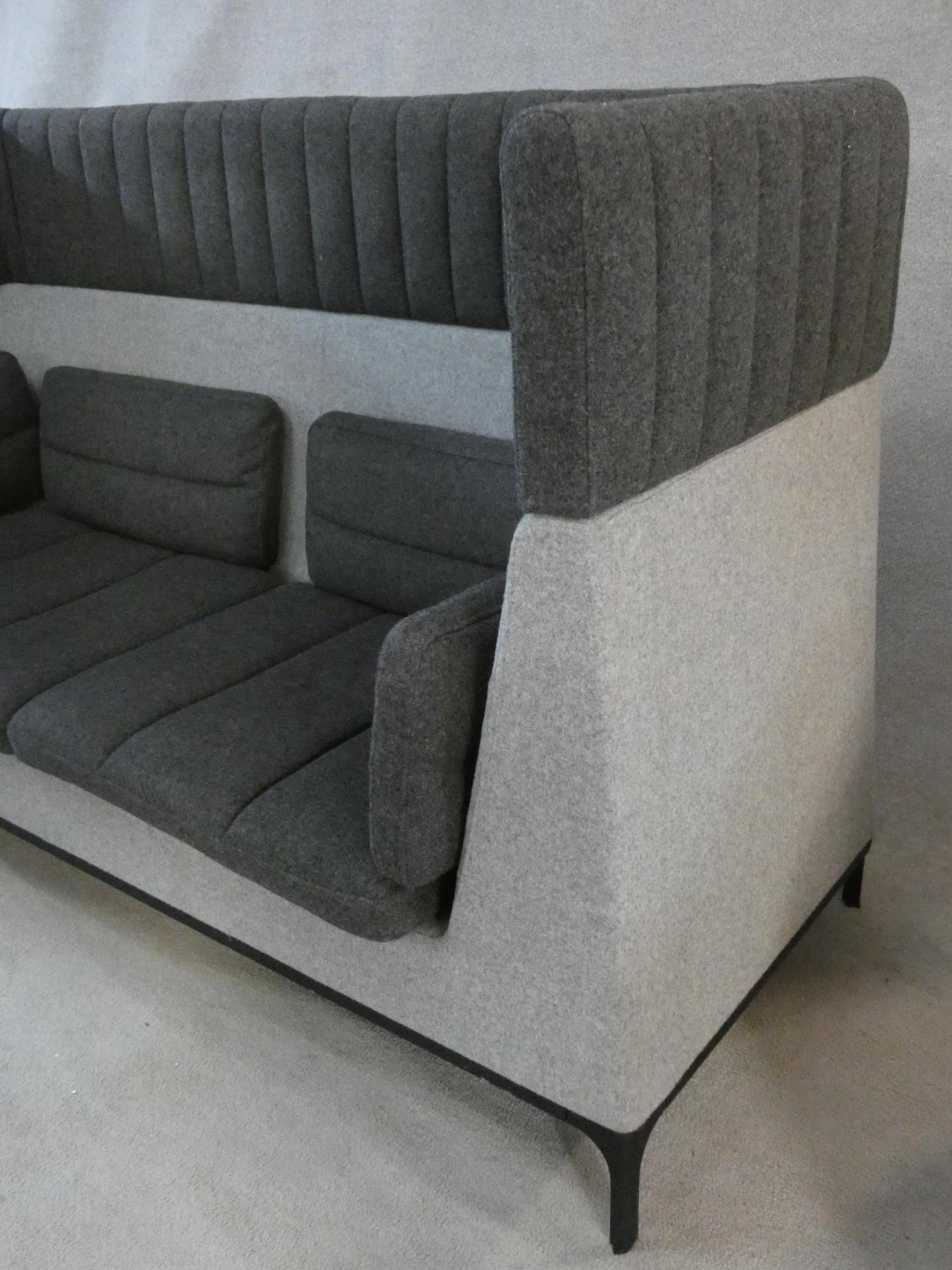 Mark Gabbertas for Allermuir, a Haven sofa in two tones of grey. H.118xW.200xD.81cm - Image 5 of 10