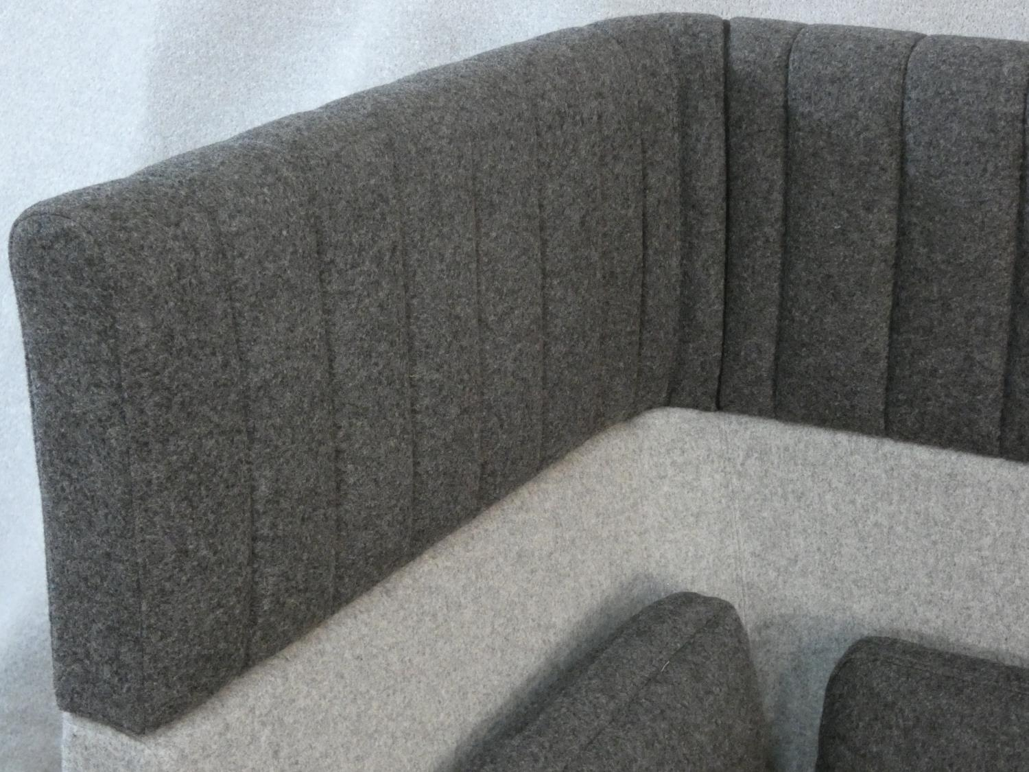 Mark Gabbertas for Allermuir, a Haven sofa in two tones of grey. H.118xW.200xD.81cm - Image 8 of 10