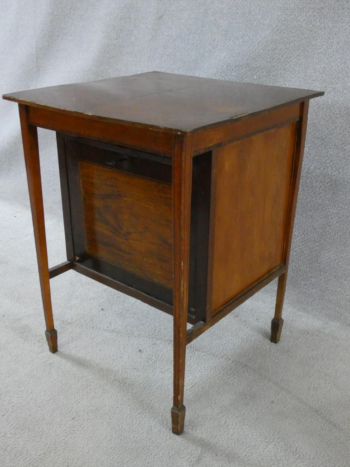 An Edwardian fitted mahogany record cabinet. H.70 W.52 D.52cm - Image 16 of 18
