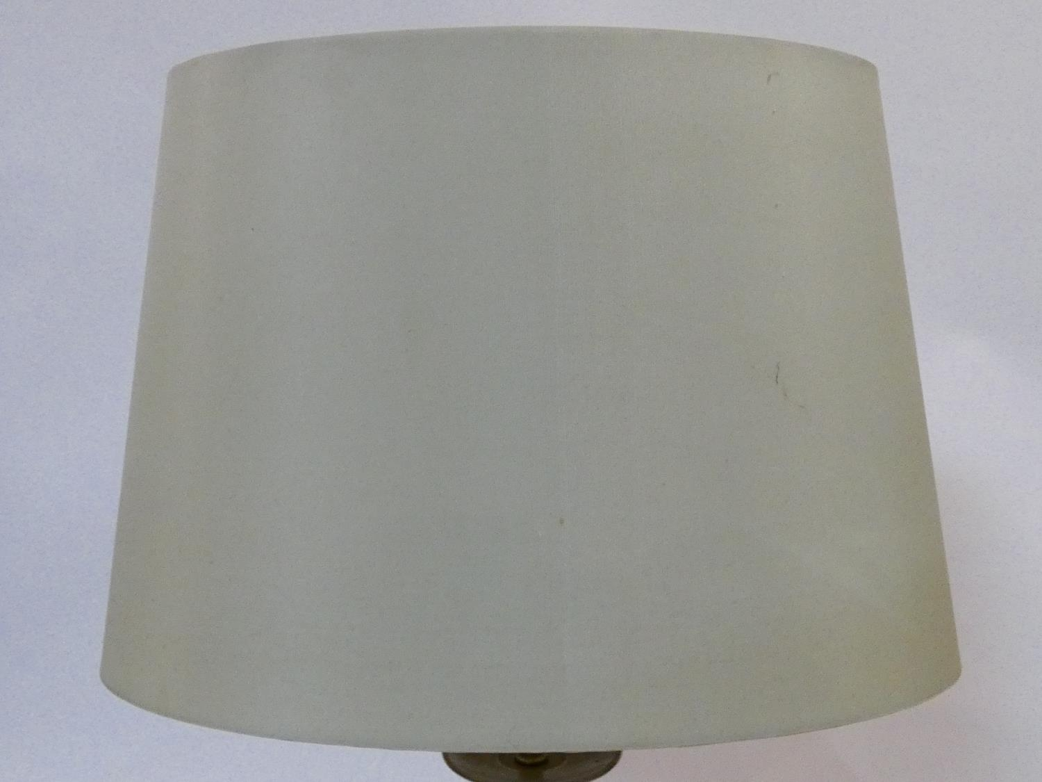 A pair of contemporary table lamps and their shades and a similar pair. H.59cm - Image 6 of 12