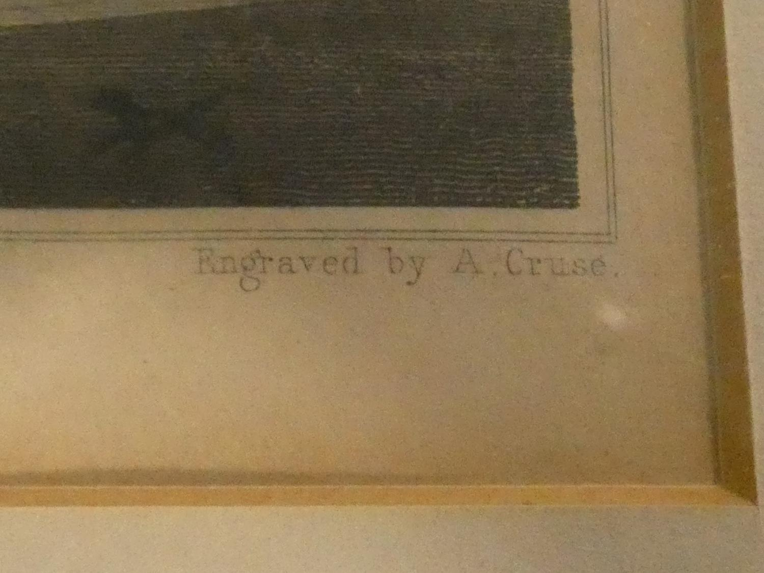 Seven framed and glazed antique hand coloured engravings, four of British places of interest and - Image 9 of 21