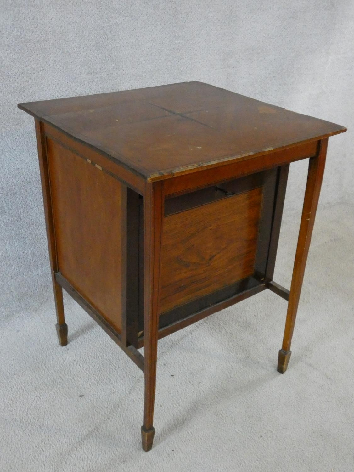 An Edwardian fitted mahogany record cabinet. H.70 W.52 D.52cm - Image 18 of 18