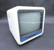 A Vintage Boot's MTV7 Black and White Portable TV 7 inch. H.9 W.19 D.23cm