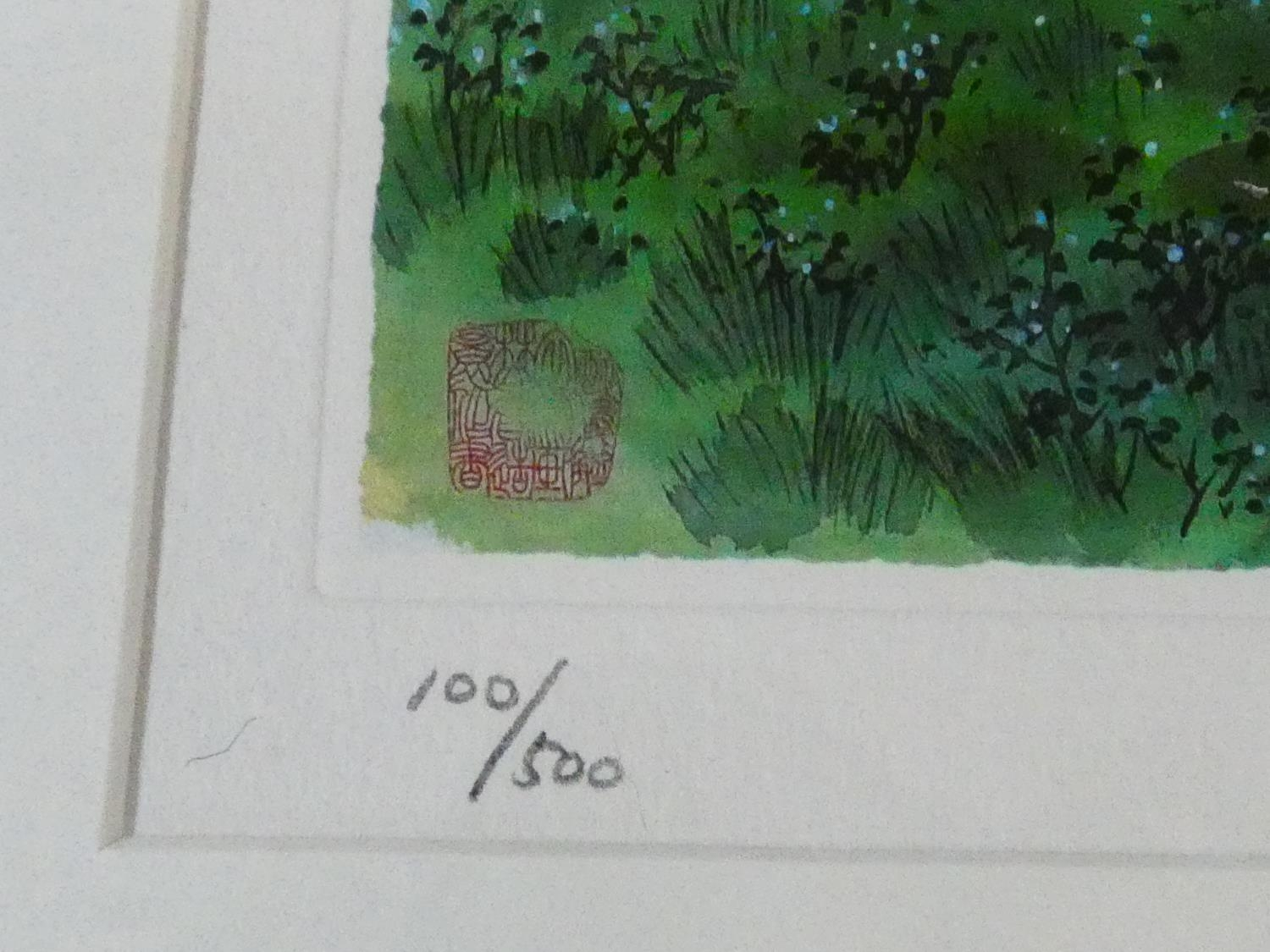 A framed and glazed limited edition signed print by Korean Artist (Kim Ki Chang 1914 - 2001), titled - Image 3 of 5