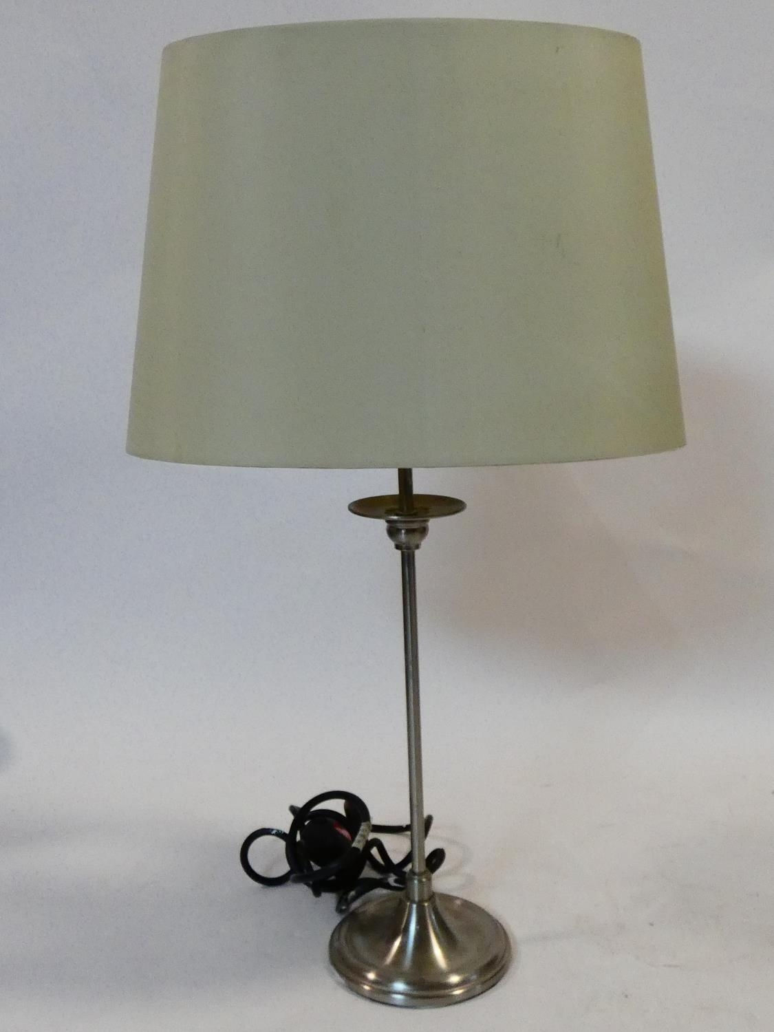 A pair of contemporary table lamps and their shades and a similar pair. H.59cm - Image 3 of 12