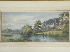 A 19th century framed and glazed watercolour, riverscape along with a similar watercolour.