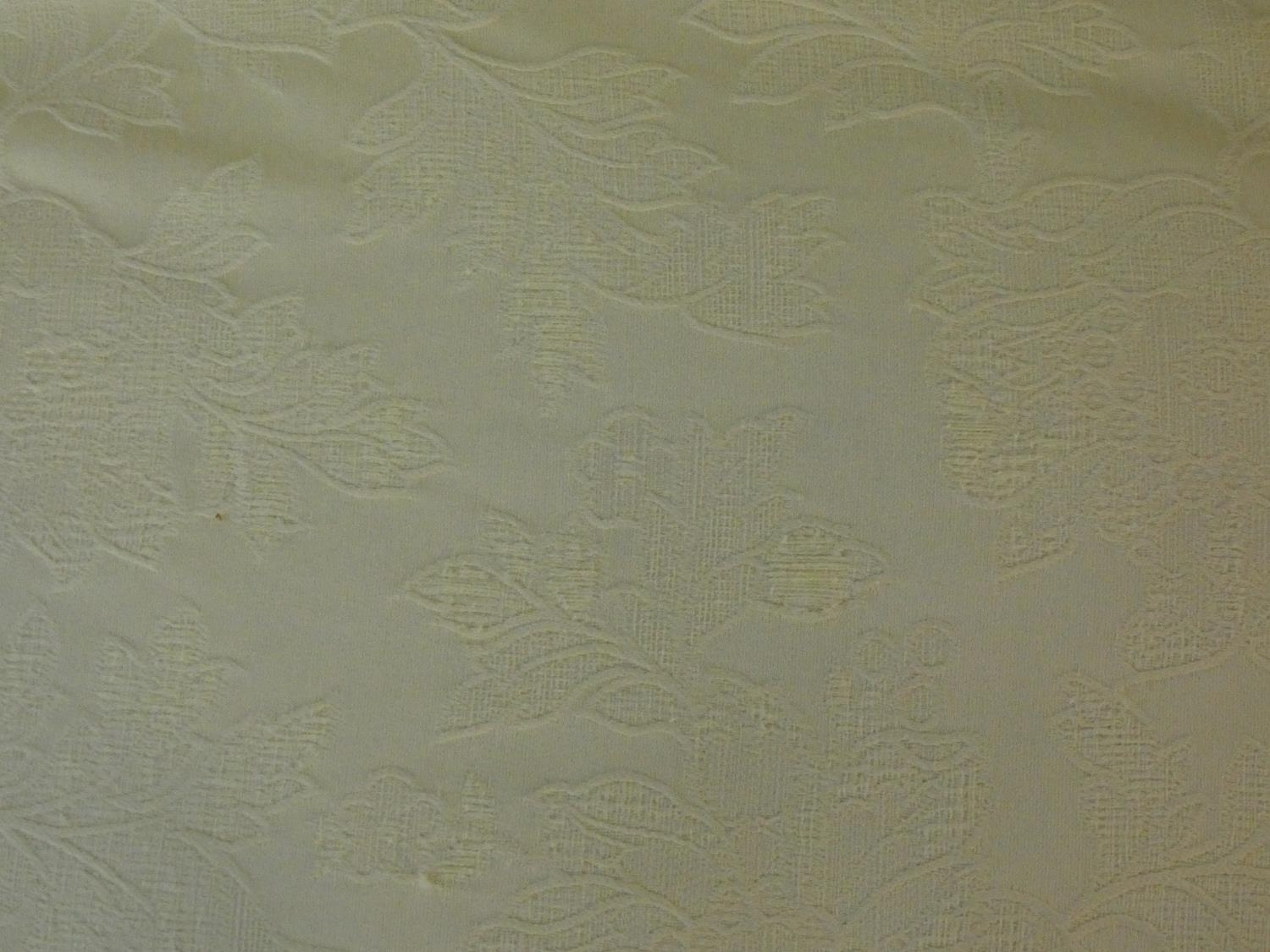 A Multiyork Howard style two seater sofa in jacquard upholstery on turned tapering supports on brass - Image 6 of 12
