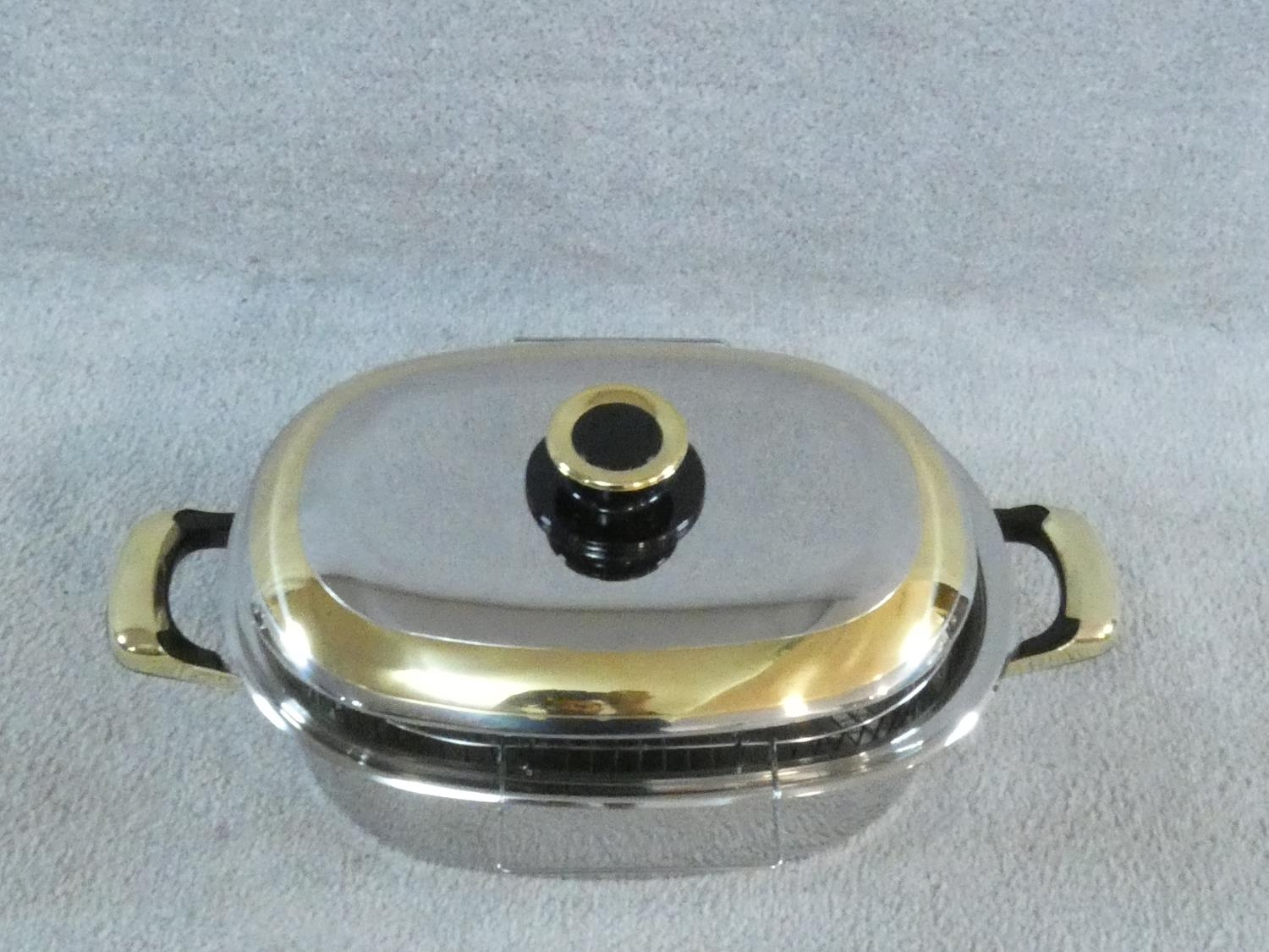 A set of boxed stainless steel as new Cameo Royale pans and cookware with 24k gold plated - Image 11 of 22