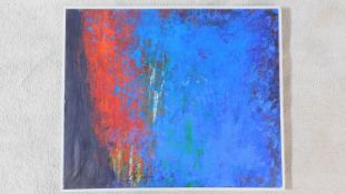 Blues to be Their, acrylic on canvas, Terence Howe, signed to reverse. W.63 H.53cm