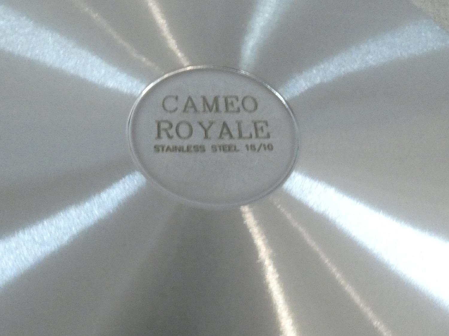 A set of boxed stainless steel as new Cameo Royale pans and cookware with 24k gold plated - Image 6 of 22