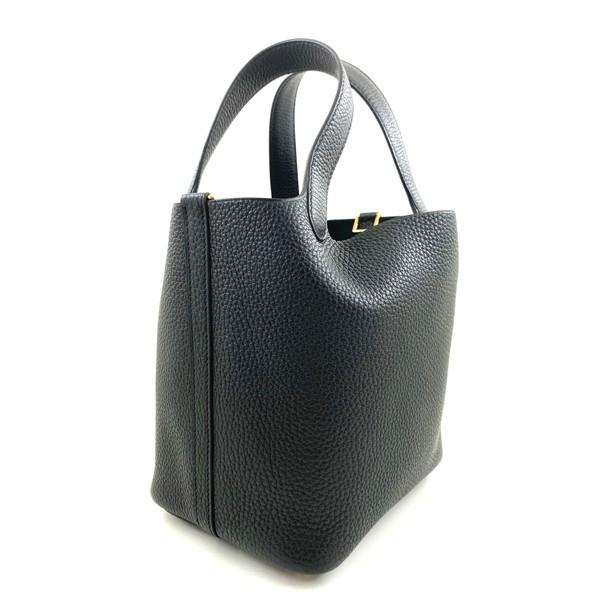 A black Hermes Picotin 18cm in clemence leather with gold hardware. Includes Box, Dustbag & Receipt, - Image 5 of 5