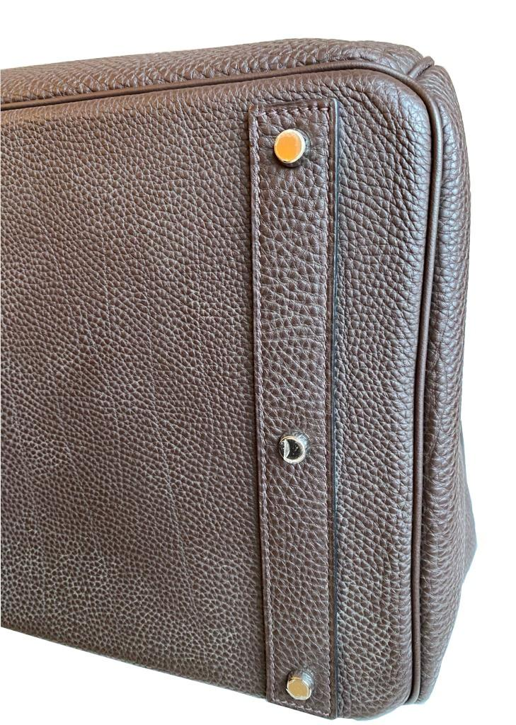A Brown Hermes Birkin 50cm Haut A Courroies in clemence leather with gold hardware. Includes - Image 8 of 16