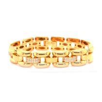 A Chopard pave set Diamond tank track Bracelet mounted in18ct yellow gold. Signed Chopard with