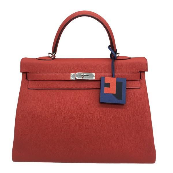 A Hermes Bag Charm Lettre R Bleu Brighton, Bleu Obscur, Capucine in Epsom, Sombrero, Chevre,