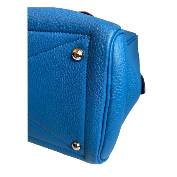 An Hermes Bleu de Galice Victoria II in clemence leather with palladium hardware. Includes - Image 7 of 11