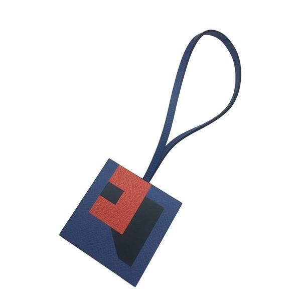 A Hermes Bag Charm Lettre R Bleu Brighton, Bleu Obscur, Capucine in Epsom, Sombrero, Chevre, - Image 2 of 2