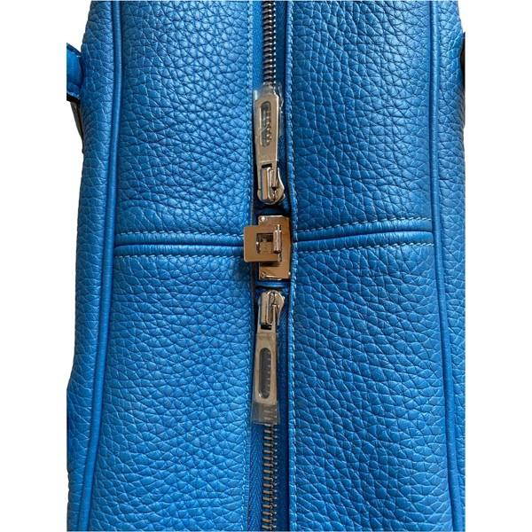 An Hermes Bleu de Galice Victoria II in clemence leather with palladium hardware. Includes - Image 11 of 11