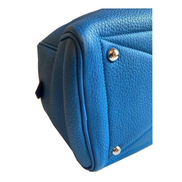 An Hermes Bleu de Galice Victoria II in clemence leather with palladium hardware. Includes - Image 8 of 11