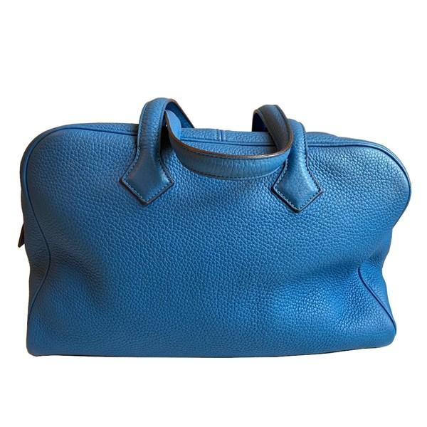 An Hermes Bleu de Galice Victoria II in clemence leather with palladium hardware. Includes - Image 5 of 11