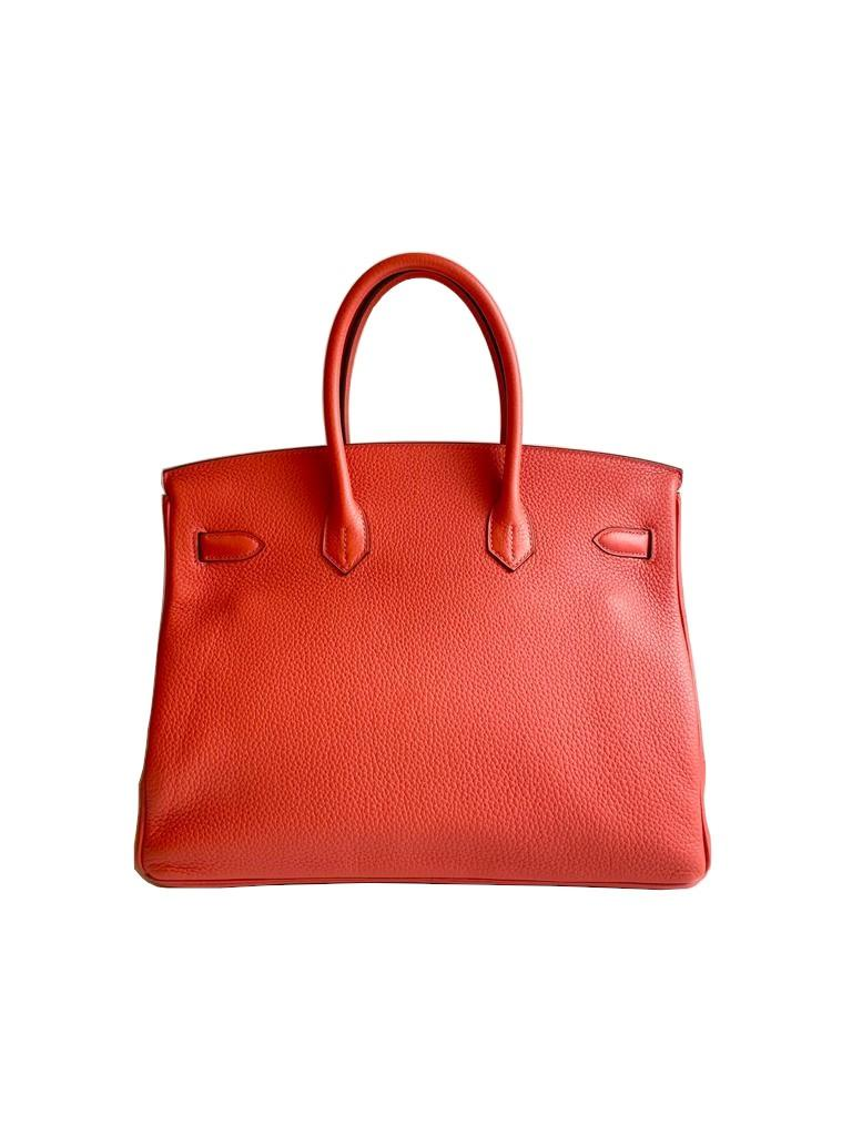 A Rouge Pivoine Hermes Birkin 35cm in clemence leather with gold hardware. Includes Box, Dustbag, - Image 4 of 5