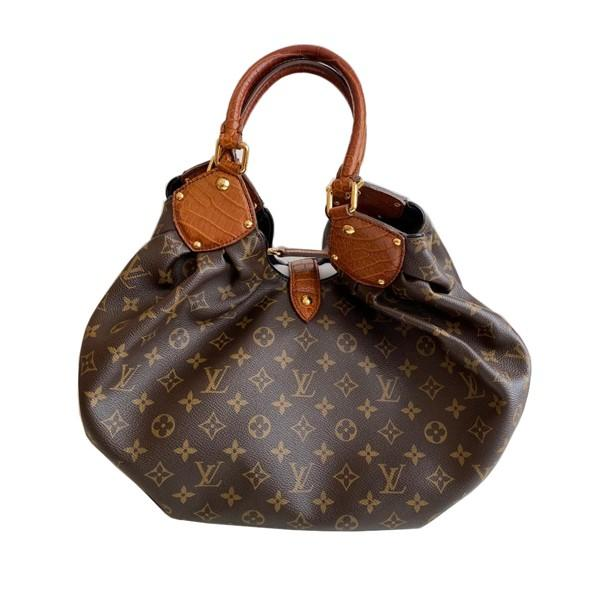 A Louis Vuitton Mahina XL Crocodile Trim Tote in Monogram canvas leather and gold hardware. Includes - Image 6 of 16