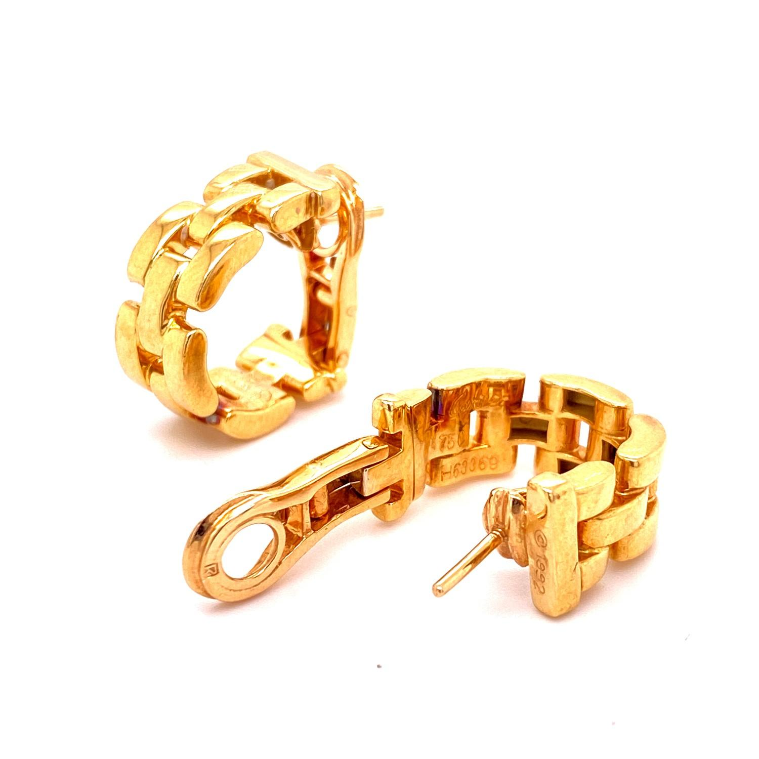 A pair of Cartier Panthere earrings mounted in 18ct gold. English. 1992. Signed and numbered with - Image 4 of 6