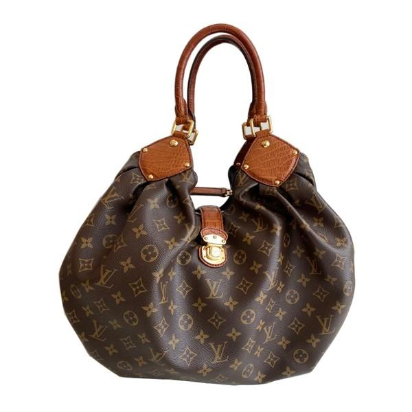 A Louis Vuitton Mahina XL Crocodile Trim Tote in Monogram canvas leather and gold hardware. Includes - Image 4 of 16