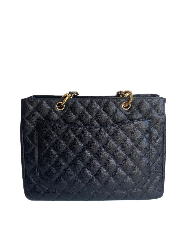 A Chanel Grand Shopping Tote Black Caviar leather with gold hardware. W.33cm x H.25.5cm x D.13.5cm - Image 6 of 6