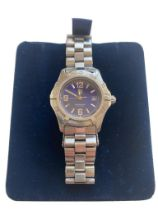 A Tag Heuer Women's Watch (WN1312 KY0932) Dial, Blue quarter Arabic. Dia.27mm, Date 1998.