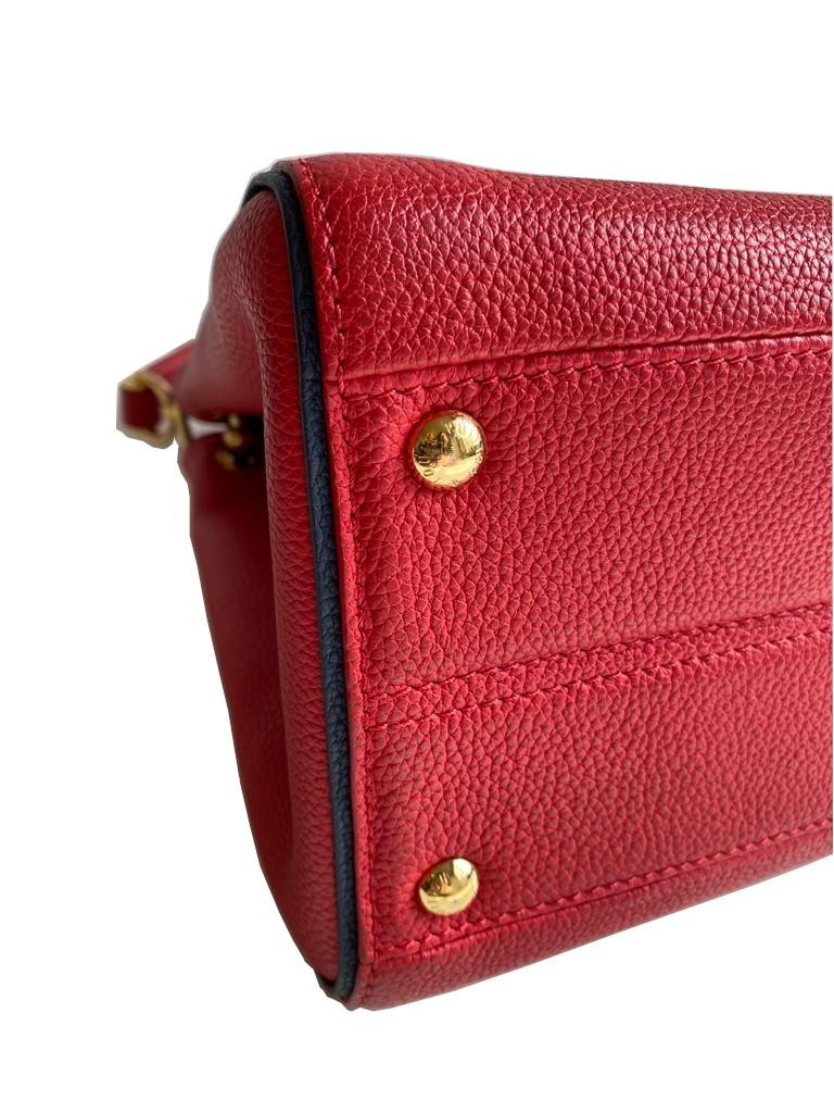 A Louis Vuitton Double V red calf leather and gold hardware. Includes Dustbag, W.28cm x H.20cm x D. - Image 10 of 11