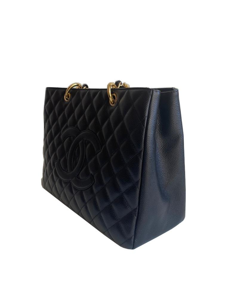 A Chanel Grand Shopping Tote Black Caviar leather with gold hardware. W.33cm x H.25.5cm x D.13.5cm - Image 4 of 6