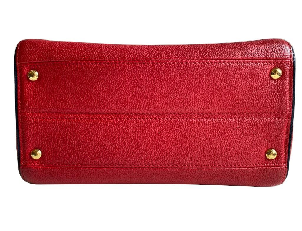 A Louis Vuitton Double V red calf leather and gold hardware. Includes Dustbag, W.28cm x H.20cm x D. - Image 9 of 11