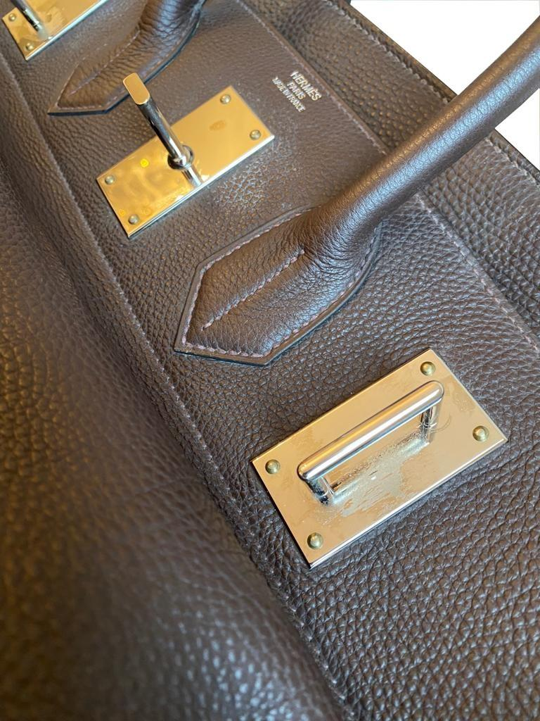 A Brown Hermes Birkin 50cm Haut A Courroies in clemence leather with gold hardware. Includes - Image 11 of 16