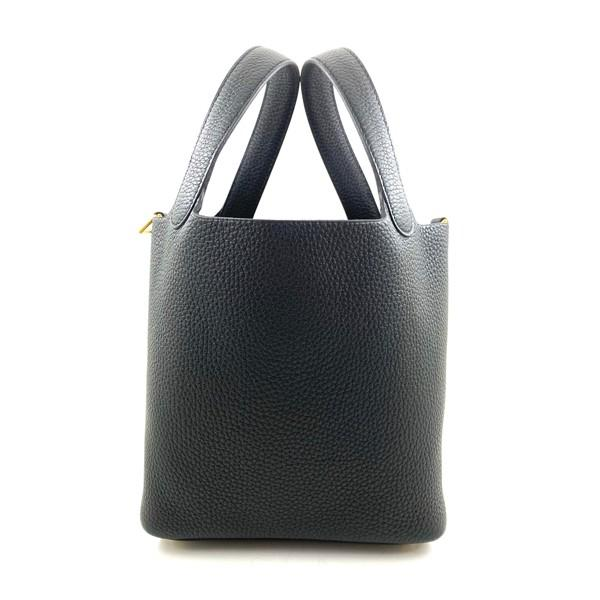 A black Hermes Picotin 18cm in clemence leather with gold hardware. Includes Box, Dustbag & Receipt,