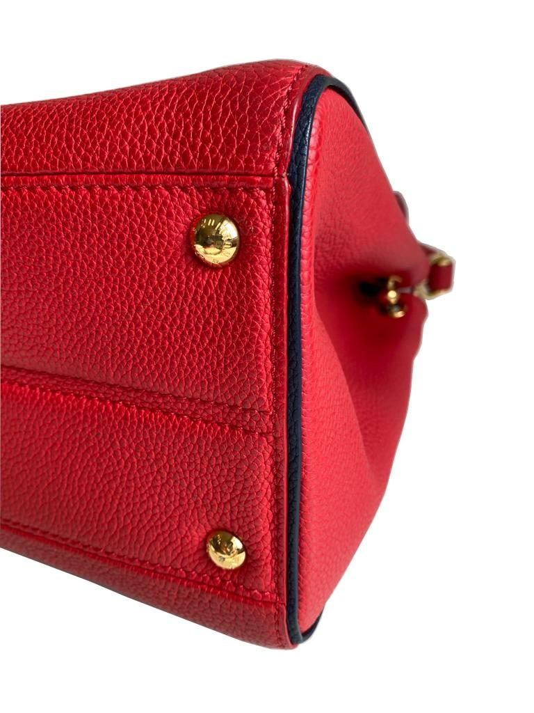 A Louis Vuitton Double V red calf leather and gold hardware. Includes Dustbag, W.28cm x H.20cm x D. - Image 11 of 11