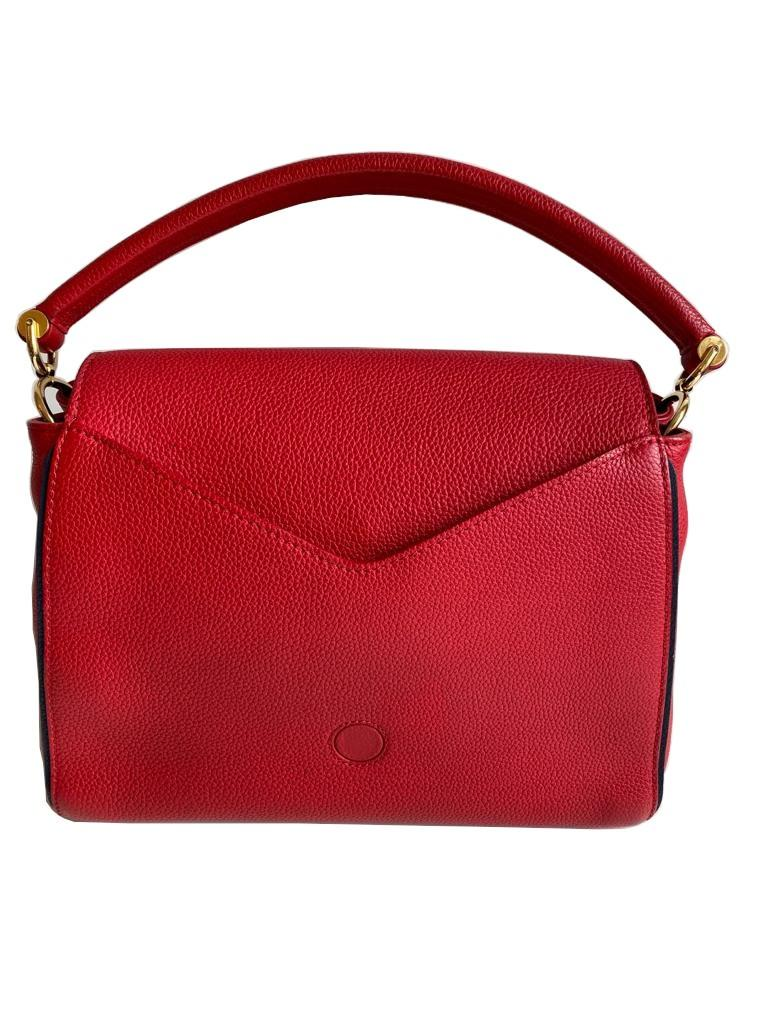 A Louis Vuitton Double V red calf leather and gold hardware. Includes Dustbag, W.28cm x H.20cm x D. - Image 6 of 11
